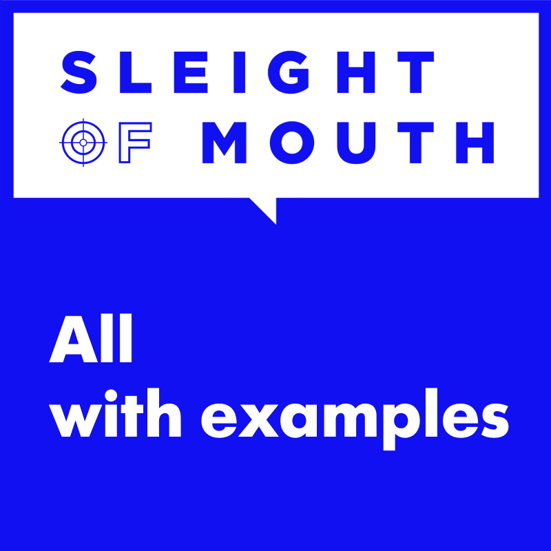 sleight of mouth examples